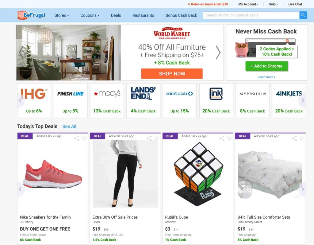 Befrugal-Shopping-Portal