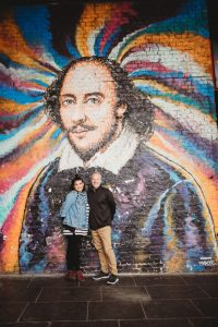 Multicolor Mural of Shakespeare in London
