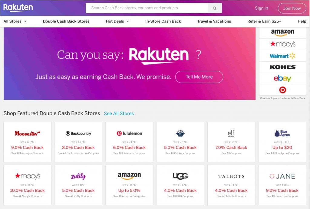 Rakuten-shopping-portal