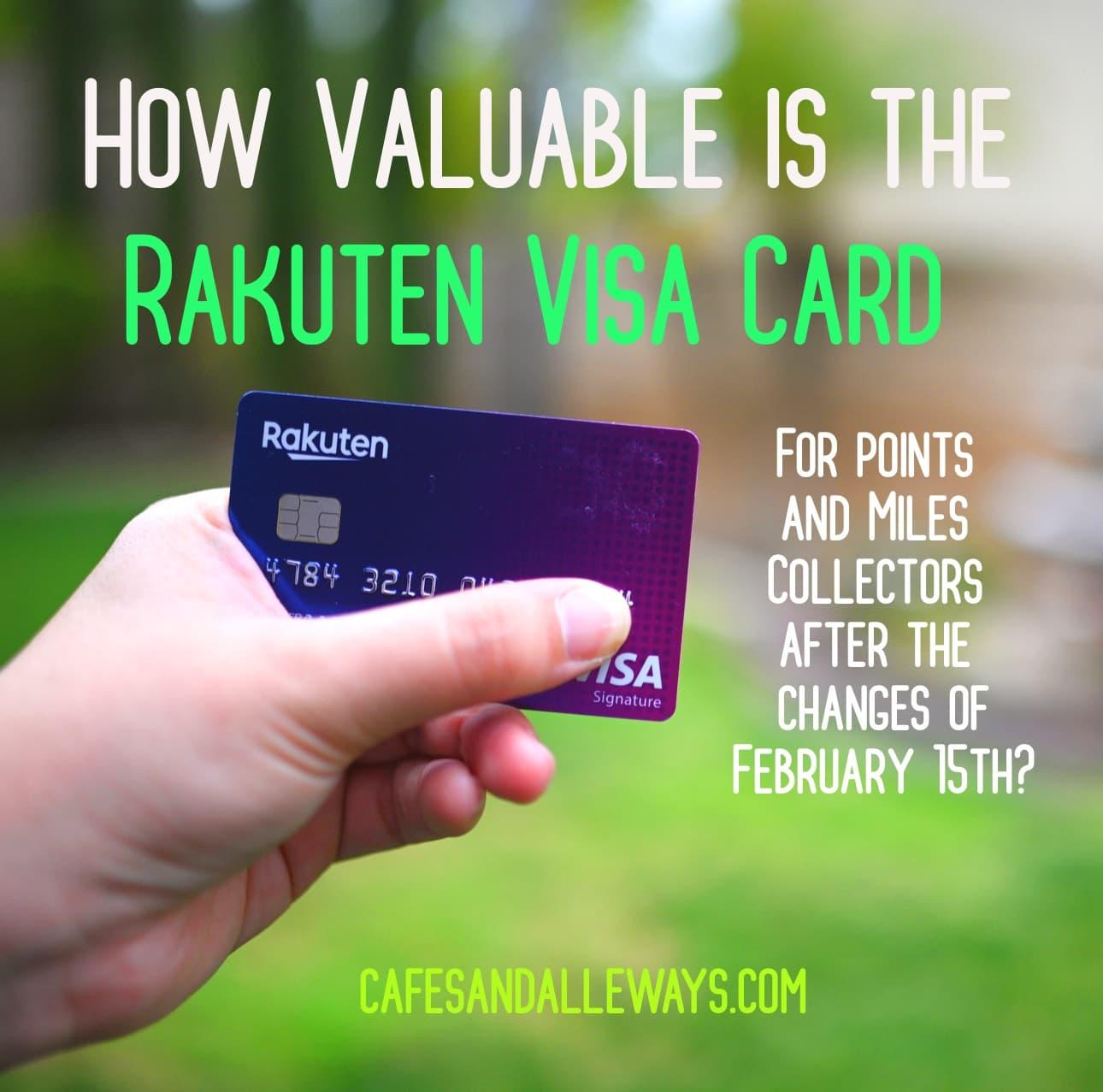 How Valuable Is the Rakuten Visa Card?