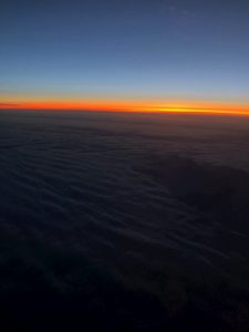 Sunset Over the Arctic Circle from 36,000 Feet
