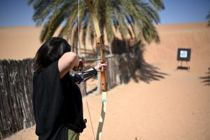 Archery at the Al Maha Resort in Dubai