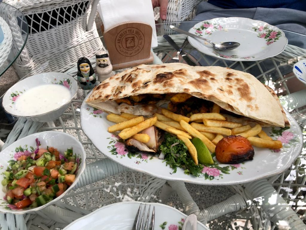 arabian-tea-house-pita-fries-salad
