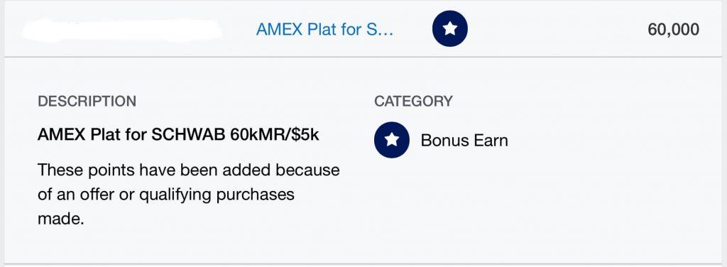 American Express Welcome Bonus