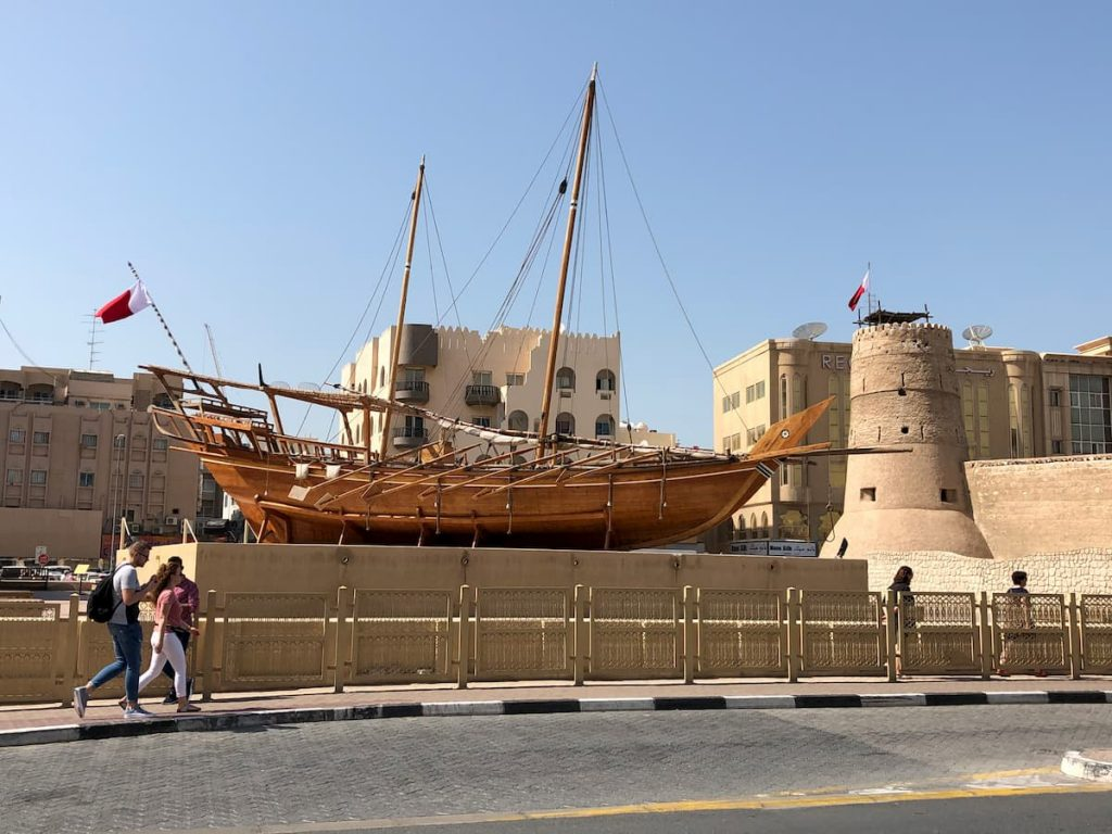old-dubai-museum-wooden-boat