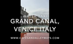 Water Taxi in Venice, Italy (Quick Video)