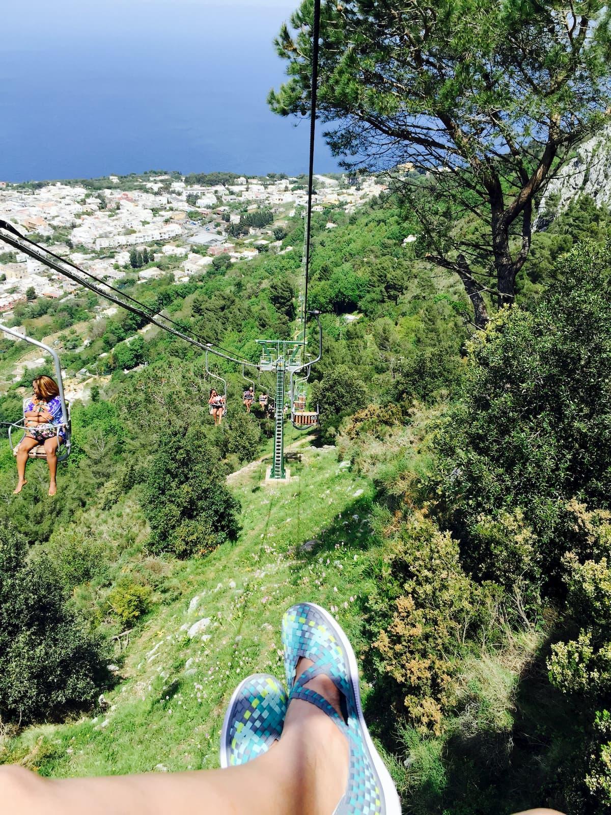 Chair Lift up Monte Solaro in Anacapri, Italy